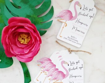 10x Flamingo Let's get flocked up! Bachelorette Tags. Thank You for Flamingling/ Thank You Favour Tags /Gift Tags