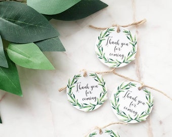 10x Olive Branch Thank You Tags/ Gift Tags/ Favour Tags