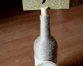 Gold Glitter Cut Out Table Numbers
