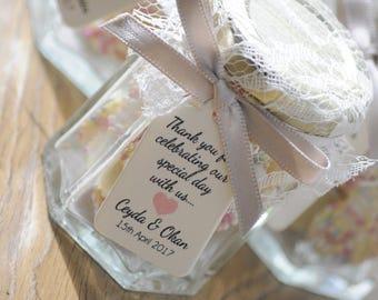 Vintage Lace Jazzle Sweet Wedding Favour/Gift