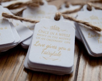 10x Mini Once in a While Favour/Wedding Tags