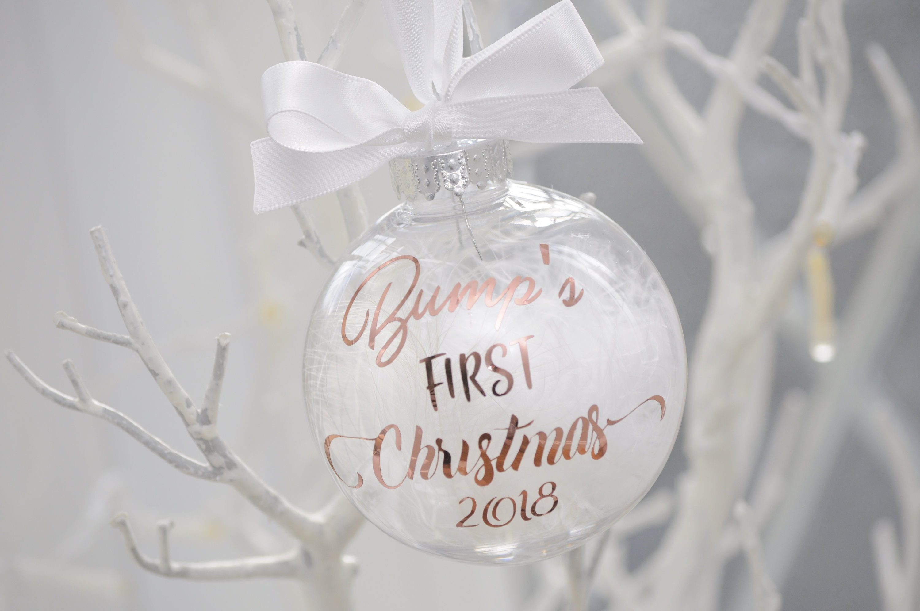 76869b8380ac3 Bump's First Christmas Bauble Rose Gold