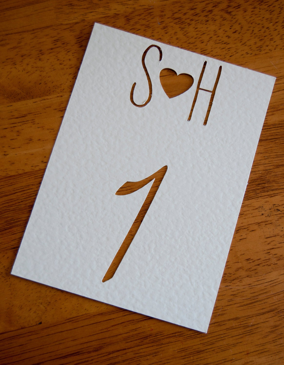 Simple Paper Chick Craft: Simple Paper Cut Personalised Heart Table Number