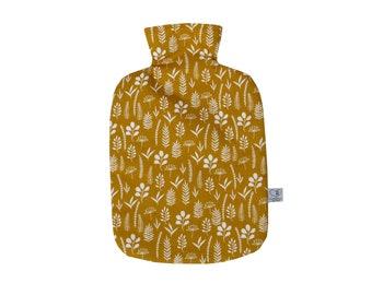 Wärmflaschenbezug mit Namen senfgelb ocker curry gelb Wärmflasche