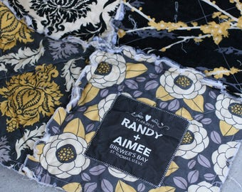 Cotton Anniversary Gift for her him men - 2nd Anniversary Gift for wife husband - Second Anniversary Gift for Couple - Personalized Quilt
