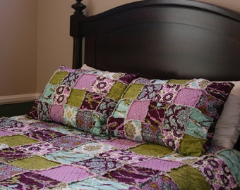 Twin Size Quilt - Full Size Quilt - Dorm Room Bedding - College Bedding - Teen Bedding - Rag Quilt Bedding - Custom Bedding - You Choose