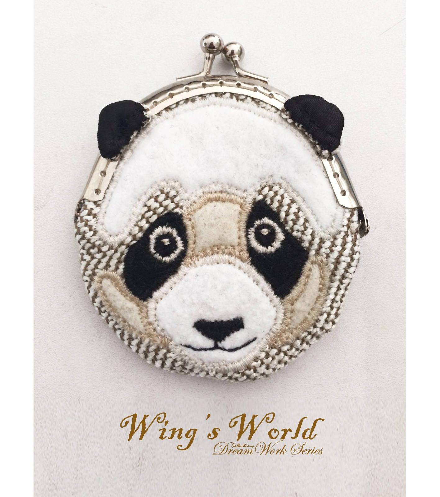 Panda Geldbeutel Geldbörse Panda Hund Geldbörse Filz Panda | Etsy