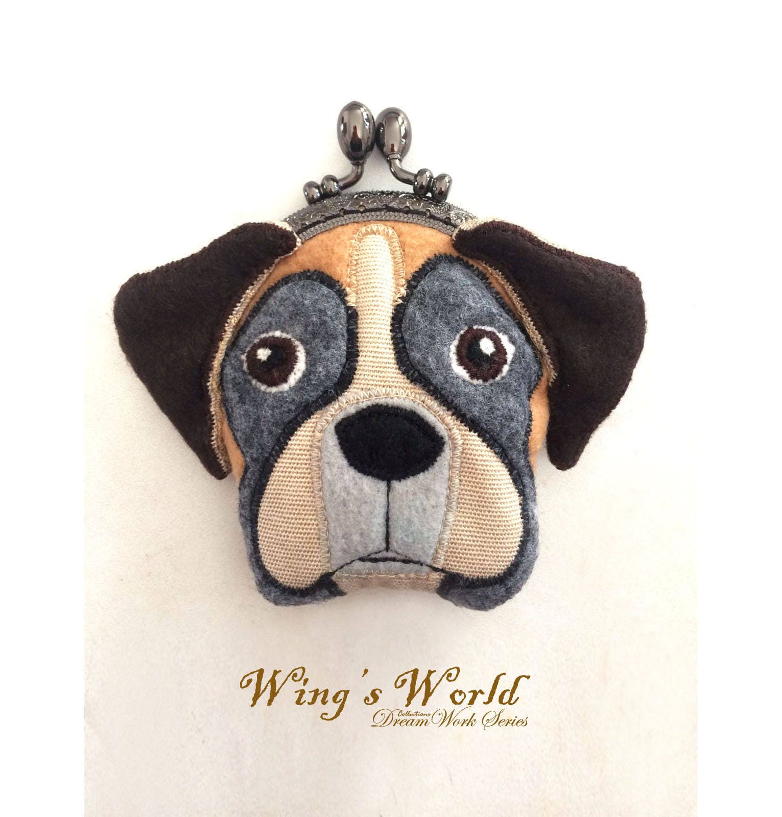 Boxer Hund Geldbeutel Geldbörse Boxer Hund Geldbörse Filz | Etsy