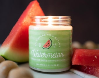 Watermelon 9 oz Soy Candle, Watermelon Soy Candle, Fruity Candle, Summer Candle, Spring Candle, Gifts for Her
