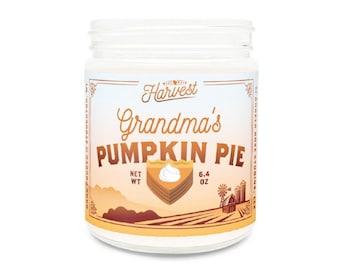 Grandma's Pumpkin Pie // Fall Candle // 9 oz Glass Jar Candle // Autumn Candle // Fall Scent // Pumpkin Scent // Fall Soy Candle