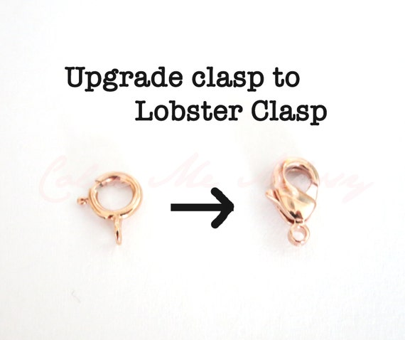 Upgrade to Rose Gold FILLED Lobster Clasp, clasp upgrade, sturdy clasp, large clasp, clasp upgrade, easy to hook, heavy duty clasp