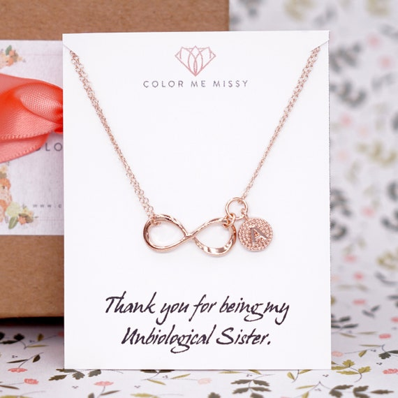 NECKLACE Personalized Rose Gold Infinity - Infinity charm, rose gold filled, forever love, bridal, bridesmaid, best friends - N246