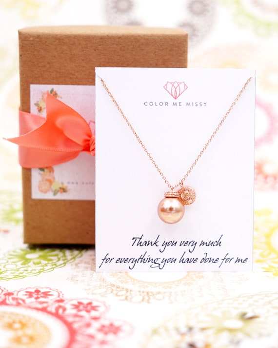 Personalised letter initial with Pearl Rose Gold FILLED Necklace/ gifts for her, bridal gifts, pink gold weddings, bridesmaid necklace N167