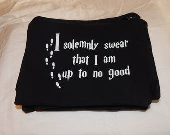 Harry Potter Zipper Pouch - I Solemnly Swear That I Am Up To No Good