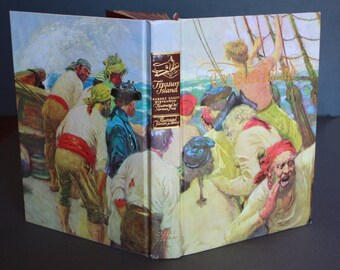 Vintage 1985 TREASURE ISLAND, Illustrated by Norman Price, hardcover