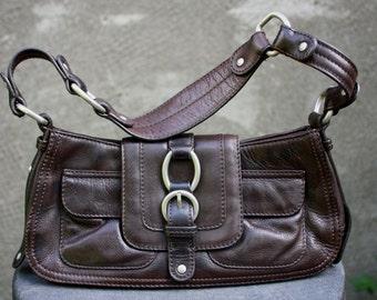 Vintage SIGRID OLSEN Genuine Leather Brown Shoulder/Hand bag