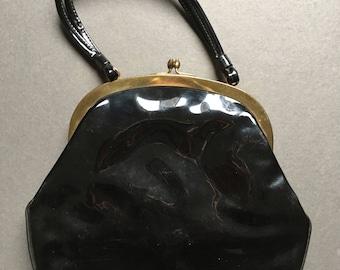Vintage 1950-1960 Vinyl Purse, Hand bag