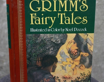 Vintage 1988 GRIMM'S Fairy Tales Illustrated by Noel Pocock