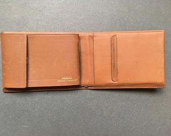 Vintage AMITY Brown Genuine Leather Wallet