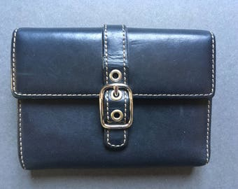 Vintage COACH Genuine Leather Black Wallet