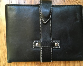 Vintage Genuine Leather Black Wallet
