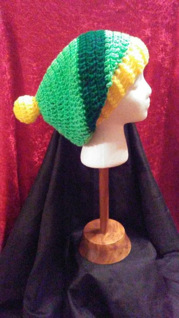 Tuque Crochet vert et jaune tuque chaude dhiver au Crochet   Etsy a6dc231dbba