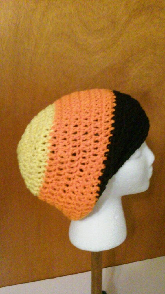 Noir jaune Orange et Halloween Crochet Tuque Bonnet au   Etsy 825317483ca
