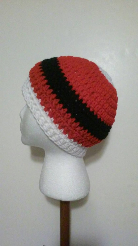 23beb2056d4c7 Red White and Black Crochet Hat Crochet Hats Winter Hats