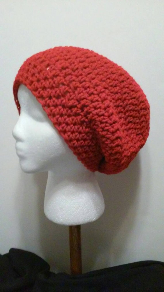 Christmas Red Crochet Slouchy Beanie Red Beanie Red Slouchy  3b174c3ddee