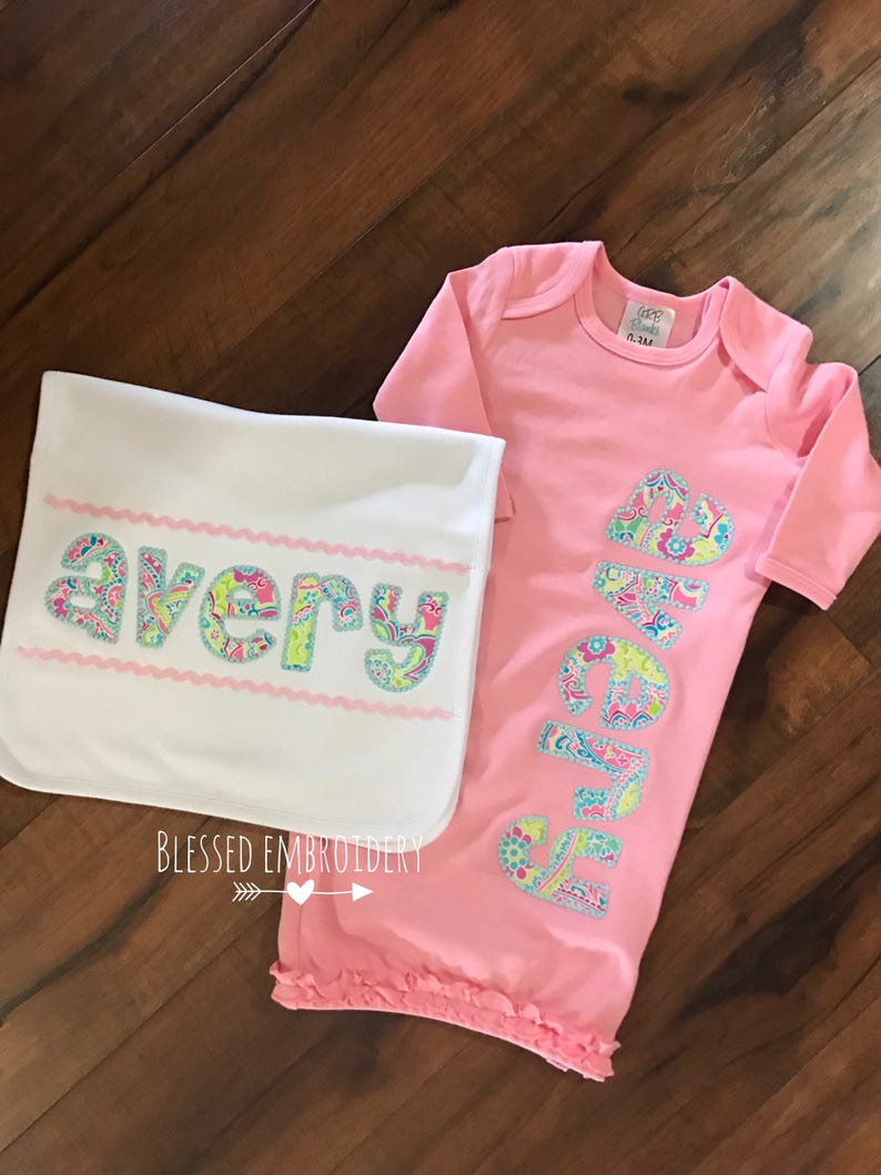 girl coming home outfit Baby girl gown set