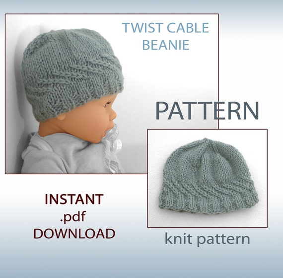 Knitting Pattern Baby Hat Pattern Newborn Hat Pattern Knit