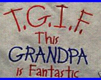 Custom  Embroidered Sweatshirt for Grandma and Grandpa, Grandmother, Grandfather