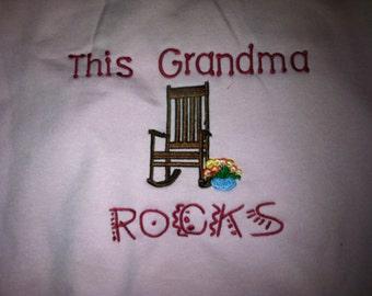 Custom  Embroidered Sweatshirt for Grandma and Grandpa