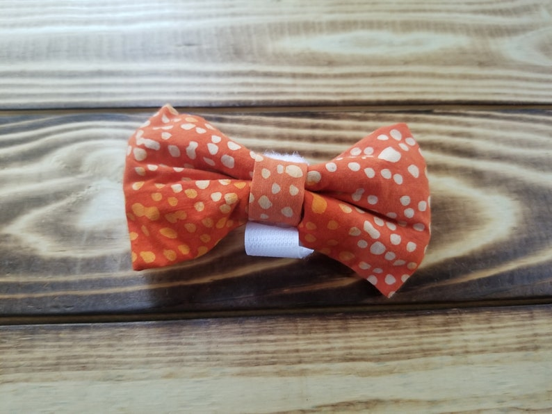 One of a Kind Proper Pooch Dog Accessory Batik Dog Bowtie for 34 to 2 Collar Collar Accessory Pet Neckwear Bowtie