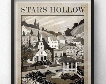 Stars Hollow Travel Poster - Heritage Edition - Inspired by Gilmore Girls