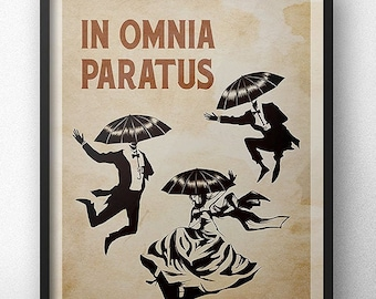 In Omnia Paratus Poster - Heritage Edition (Vertical) - Inspired by Gilmore Girls