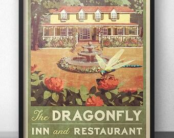 Dragonfly Inn Vintage Poster - Inspired by Gilmore Girls