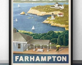 Farhampton Retro Vintage Travel Poster