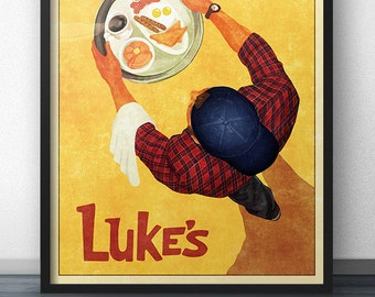 Luke's Diner - Vintage Retro Style Poster Inspired by Gilmore Girls