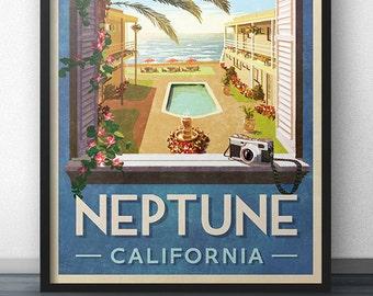 Neptune California Travel Poster - Inspired by Veronica Mars