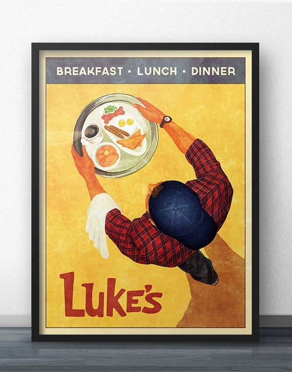 Luke S Diner Vintage Retro Style Poster Inspired By Etsy
