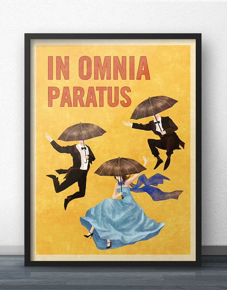 In Omnia Paratus Poster  Vintage Retro Style  Inspired by image 0