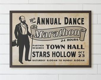 Stars Hollow Dance Marathon Poster - Heritage Series - Inspired by Gilmore Girls