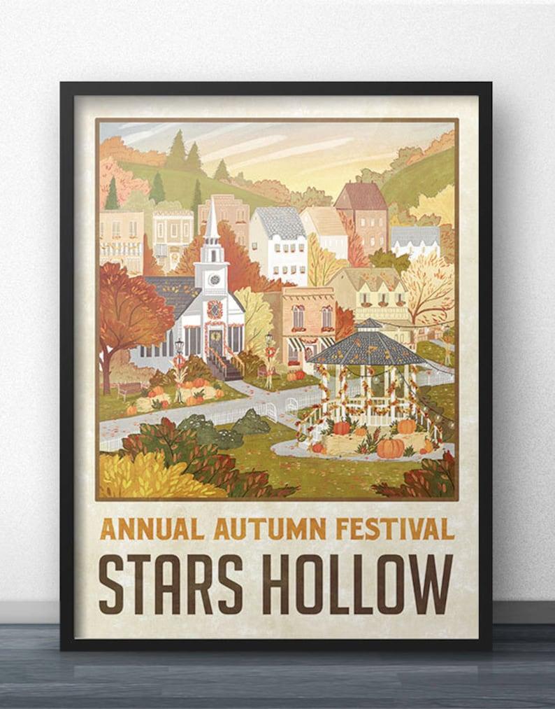 Stars Hollow Autumn Festival Travel Poster  image 0