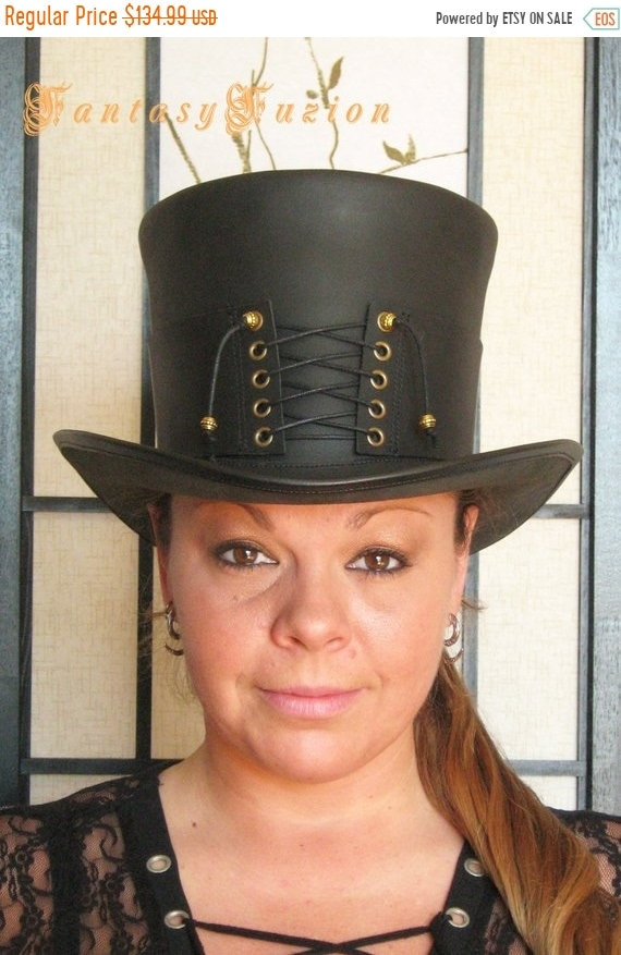 ON SALE Steampunk Hat Victorian Classy Sexy Corset Gothic  cfe8c25ab14