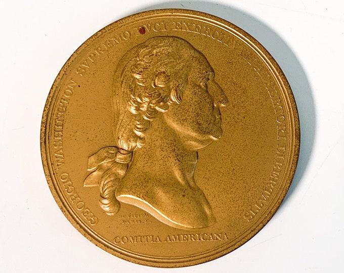 Vintage  Washington Before Boston Bronze Commemorative Medal by Artist