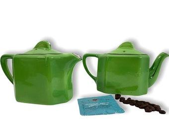 Vintage Hall Coffee Teapot Set - Restaurantware - Green w/ Dark Trim