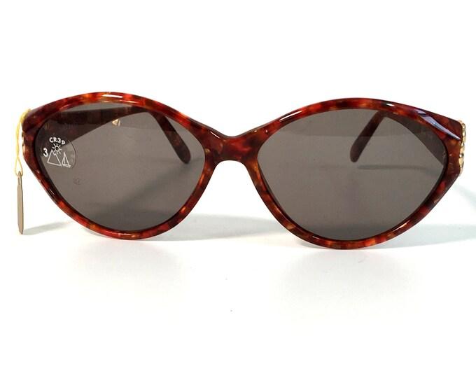 Vintage Brown Tortoise Shell Frame Sunglasses Nina Ricci 3049 - Retro Sunglasses w/ Case - Women's Frames Ca 1980s Boho Eyewear
