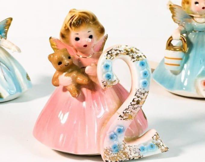 Second 2 Birthday - Vintage Josef Original Statue - Birthday Doll Series - Girl's 2 Birthday - Birthday Girl Statue - Retro Figurine