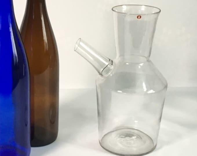 Rare FINLAND Ittala Clear Glass Carafe - Vintage Art Glass Danish Mid Century Modern Pitcher - Hand Blown Glass Erkki Vesanto of Finland